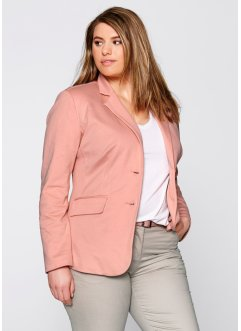 Blazer en jersey, bpc bonprix collection, corail clair