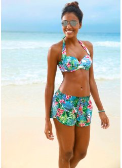Short de bain, bpc bonprix collection, vert imprimé