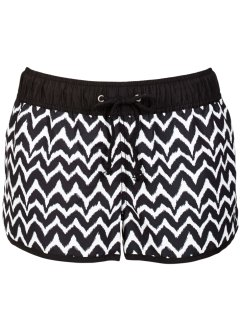 Short de bain, bpc bonprix collection, noir/blanc