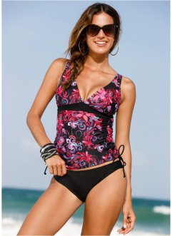 Top de tankini, bpc selection, noir/fuchsia