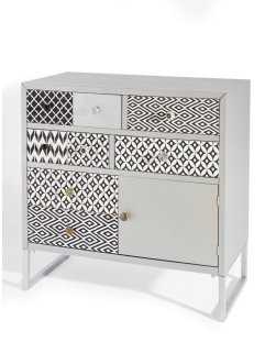 Commode Merkur, bpc living, argent