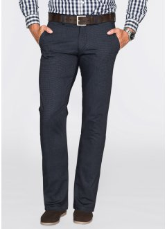 Pantalon chino aspect laine Regular Fit, bpc selection, bleu foncé chiné