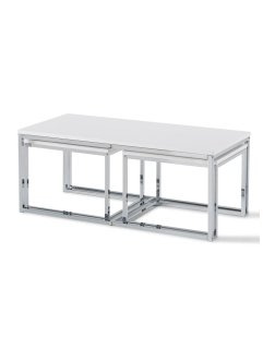 Table basse Heidelberg (Ens. 3 pces.), bpc living, blanc