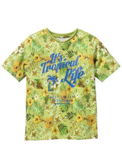 T-shirt imprimé cool, bpc bonprix collection, vert imprimé