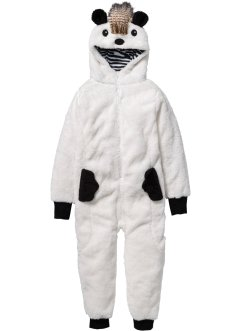 Combinaison en polaire peluche motif animal, bpc bonprix collection, blanc cassé
