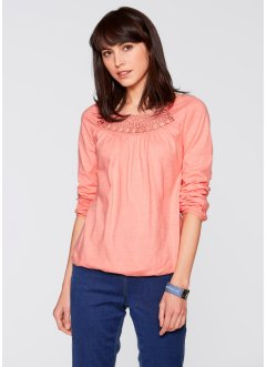 T-shirt manches longues, bpc bonprix collection, rose saumon
