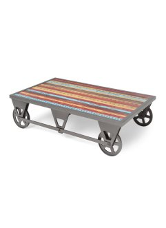 Table basse Archie, bpc living, bleu/rouge