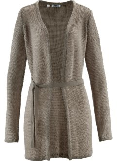 Gilet fine maille, bpc bonprix collection, taupe