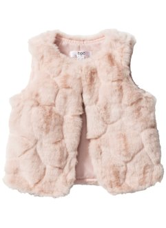 Gilet imitation fourrure, bpc bonprix collection, rose clair