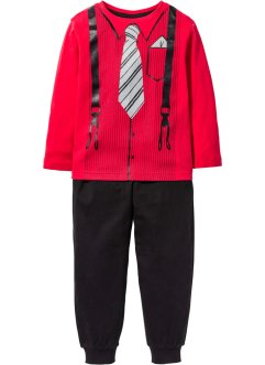 Pyjama (Ens. 2 pces.), bpc bonprix collection, rouge/noir