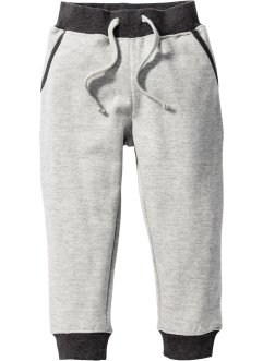 Pantalon sweat, bpc bonprix collection, gris clair chiné/anthracite chiné