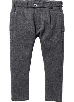 Pantalon sweat à pinces, bpc bonprix collection, anthracite chiné