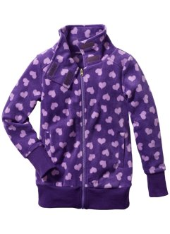 Veste polaire, bpc bonprix collection, parme/violet cœurs
