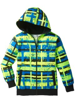 Gilet sweat-shirt, bpc bonprix collection, jaune fluo/vert fluo
