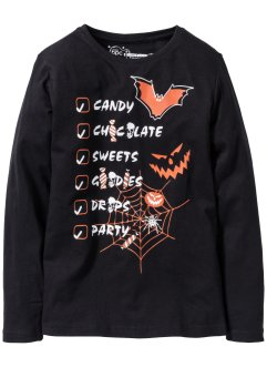 T-shirt manches longues Halloween, bpc bonprix collection, noir