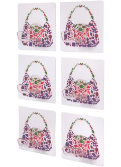Lot de 6 crochets porte-sac Luisa, bpc living, multicolore