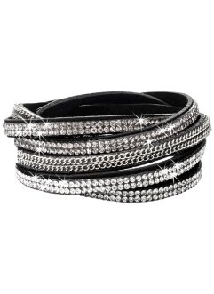 Bracelet à strass, bpc bonprix collection, noir