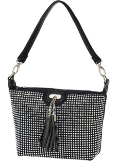 Sac à bandoulière Strass, bpc bonprix collection, noir