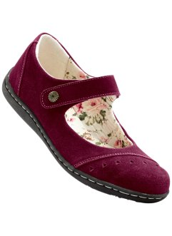 Ballerines en cuir, bpc selection, prune