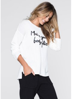 MUST-HAVE : Pull à inscription, BODYFLIRT, blanc cassé
