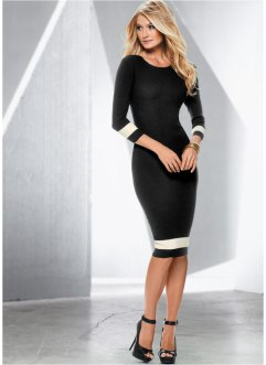 Robe en maille, BODYFLIRT boutique, noir