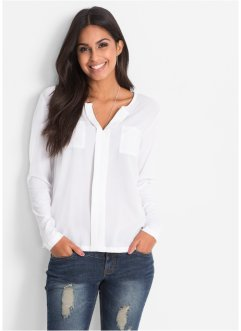 Blouse T-shirt, BODYFLIRT, blanc