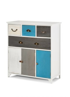Commode Dennis, bpc living, bleu/blanc