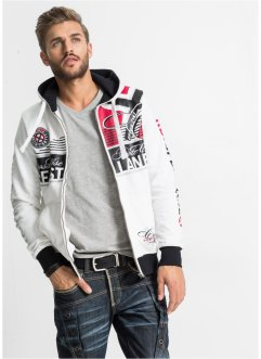 Gilet sweat-shirt Slim Fit, RAINBOW, blanc