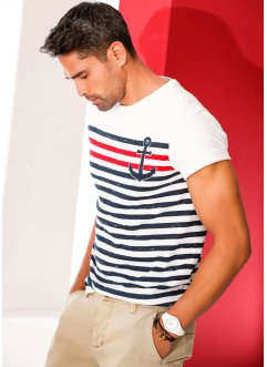 T-shirt Slim Fit, RAINBOW, blanc