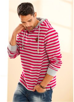 Sweat-shirt Slim Fit, RAINBOW, rouge foncé rayé