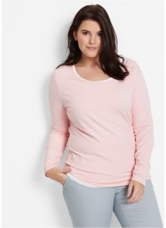 T-shirt extensible, bpc bonprix collection, rose nacré