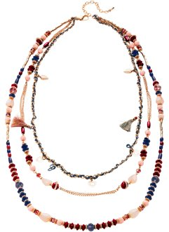 Collier avec perles multicolores et houppes, bpc bonprix collection, multicolore