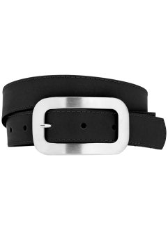 Ceinture en cuir Basic, bpc bonprix collection, noir
