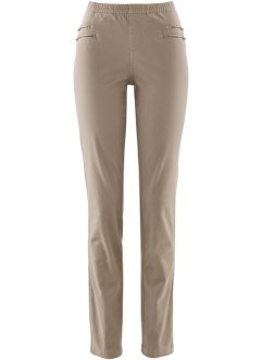 Jegging avec zips, bpc bonprix collection, taupe