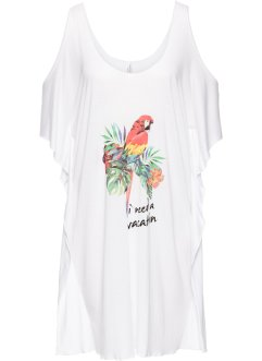 T-shirt de plage, bpc selection, blanc/toucan