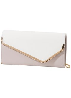 Pochette, bpc bonprix collection, nude / blanc