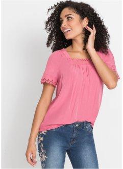 T-shirt blouse à dentelle ajourée, BODYFLIRT