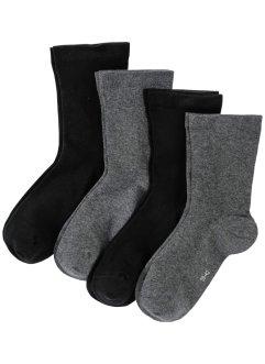 Lot de 4 paires de chaussettes sans pression, bpc bonprix collection