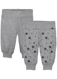 Lot de 2 pantalons bébé en jersey coton bio, bpc bonprix collection