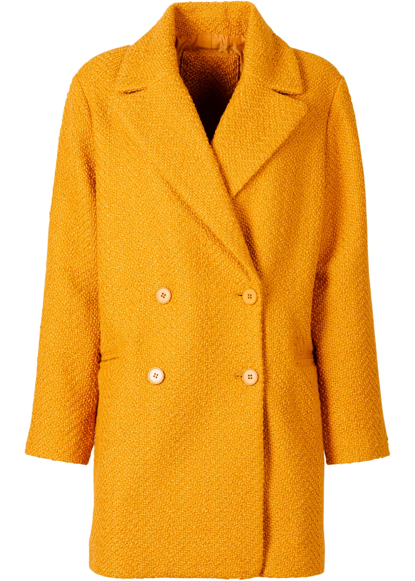 Manteau court oversize orange manches longues...