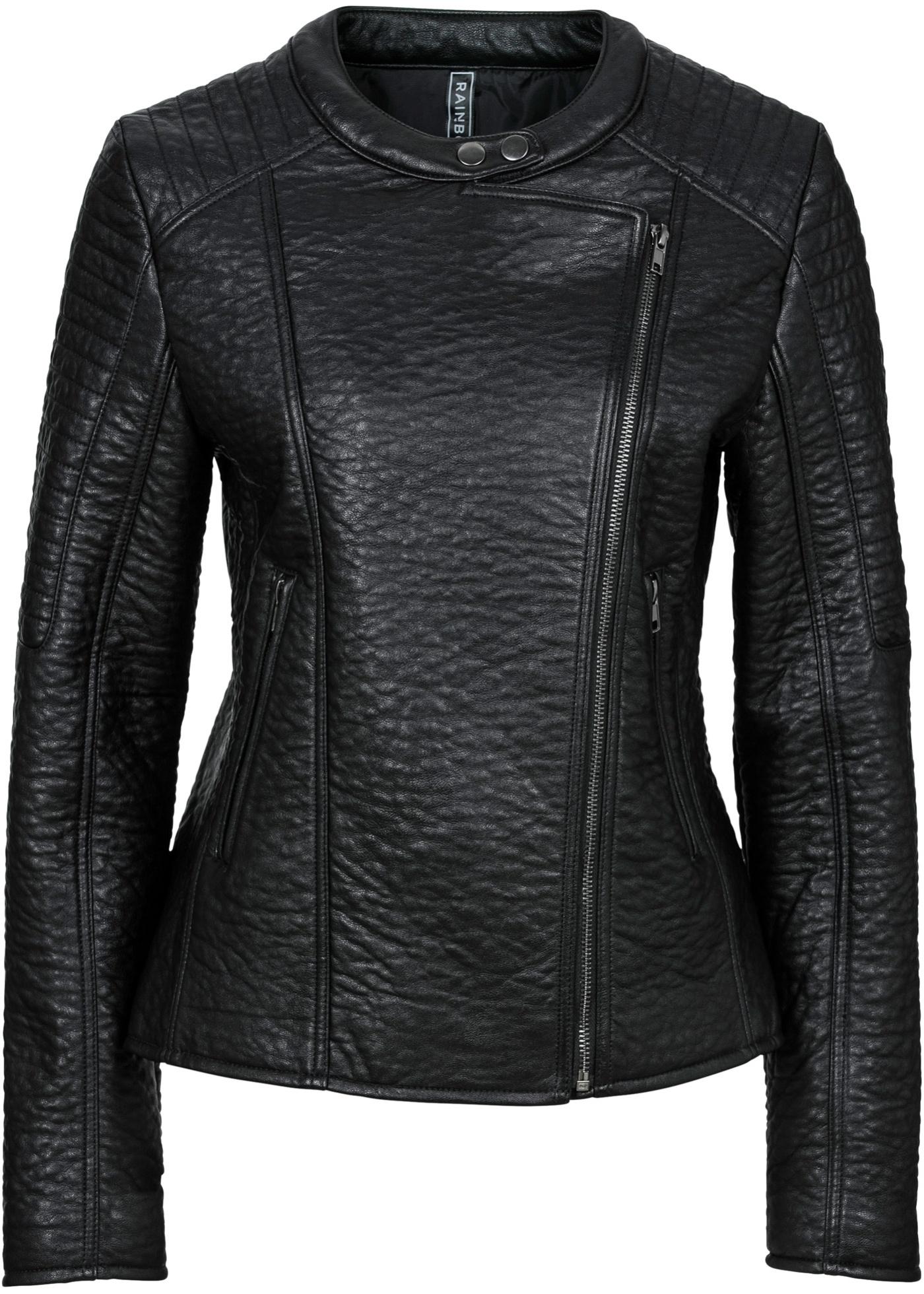 Veste biker synthétique imitation cuir noir...