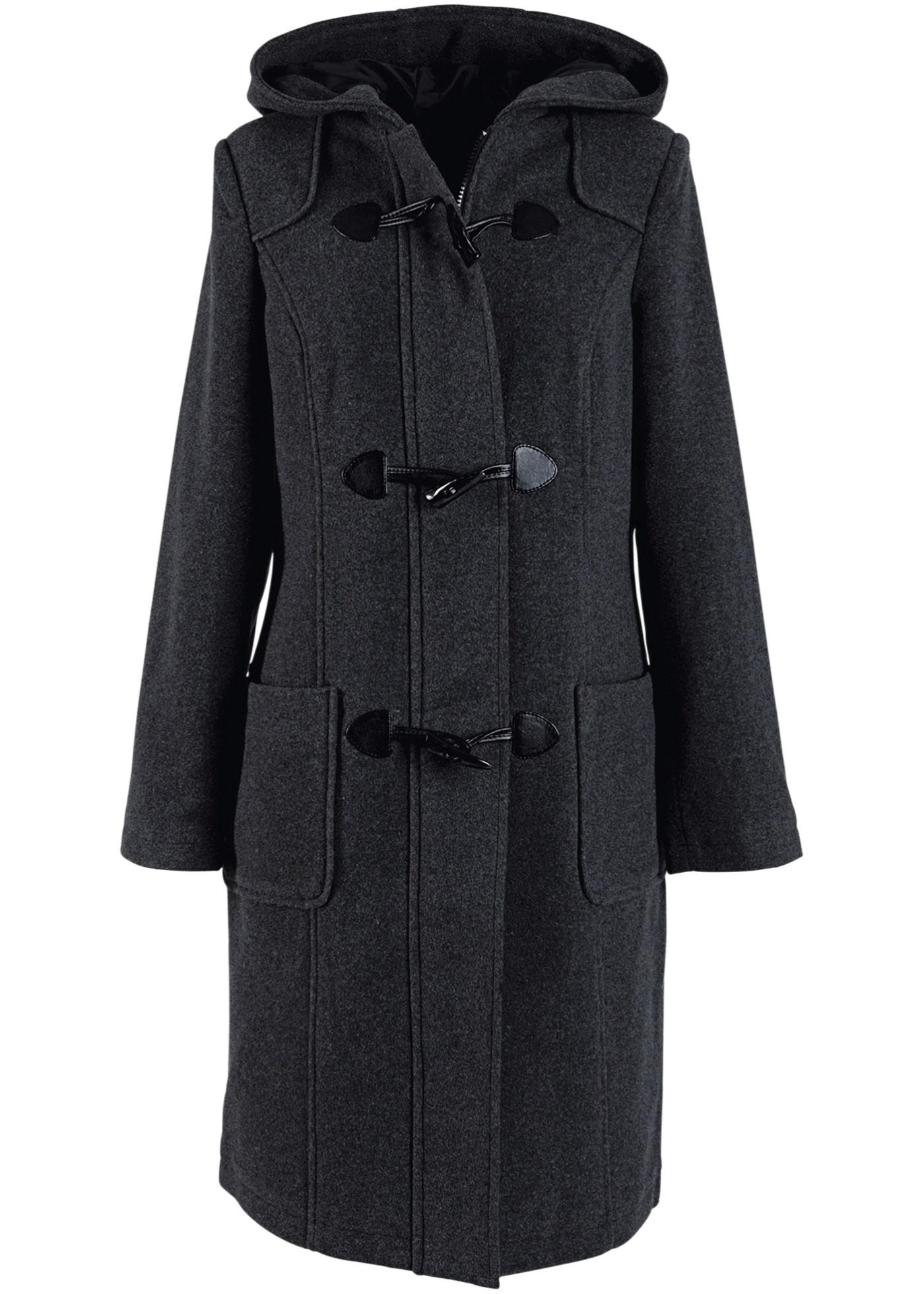 Duffle-coat gris manches longues femme - bonprix