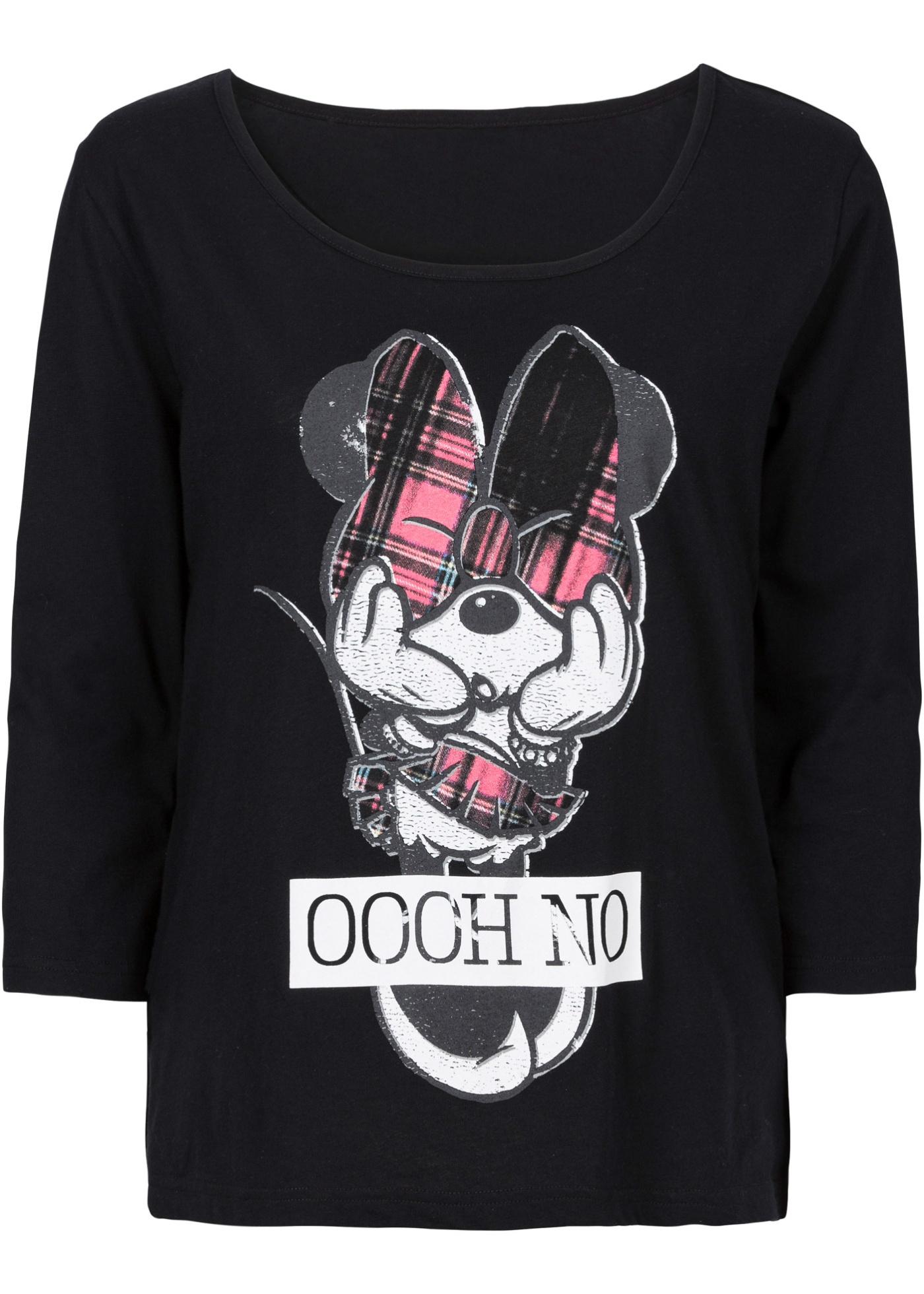 T-shirt mickey mouse noir manches mi-longues...