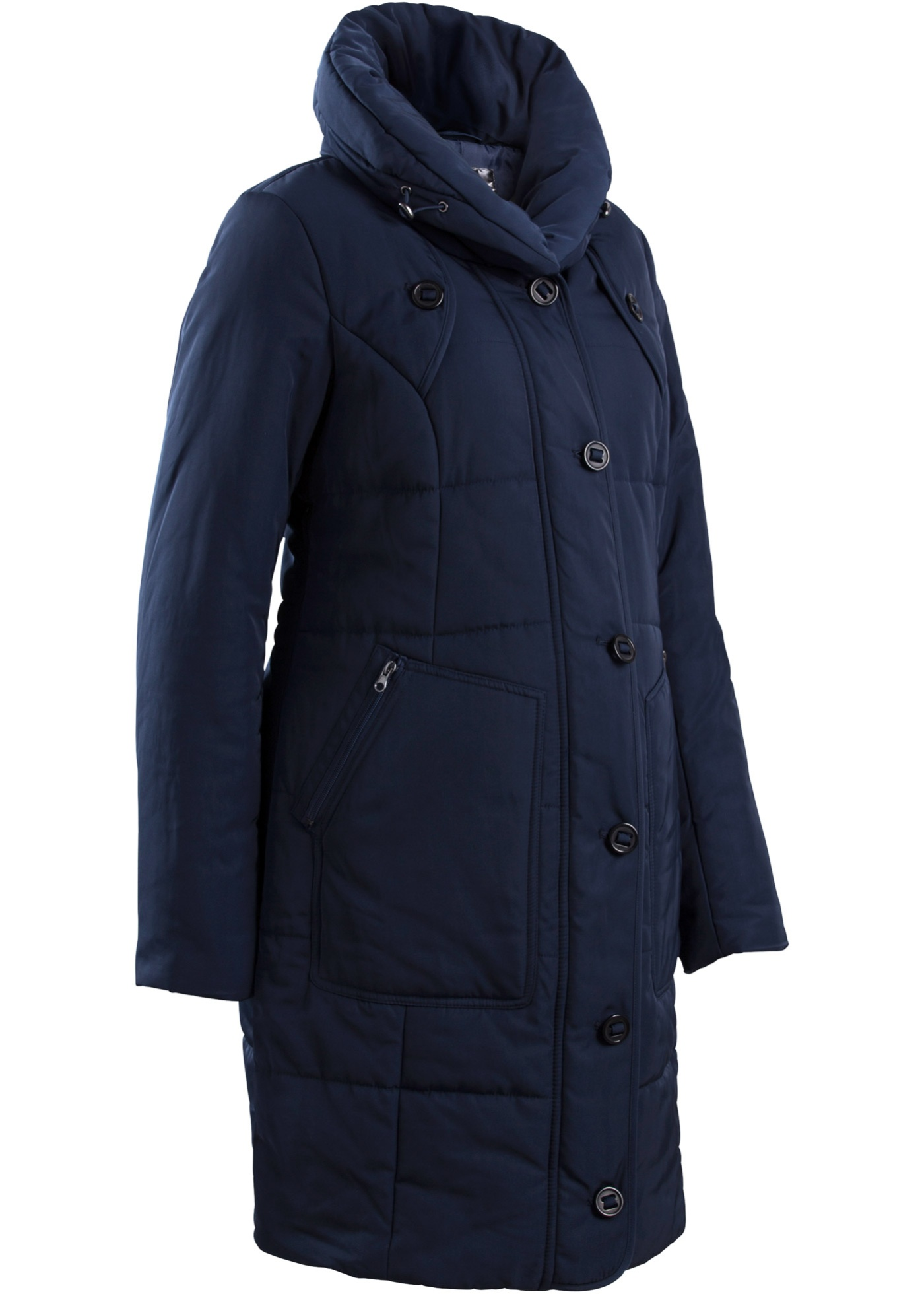 Manteau matelassé de grossesse, ajustable