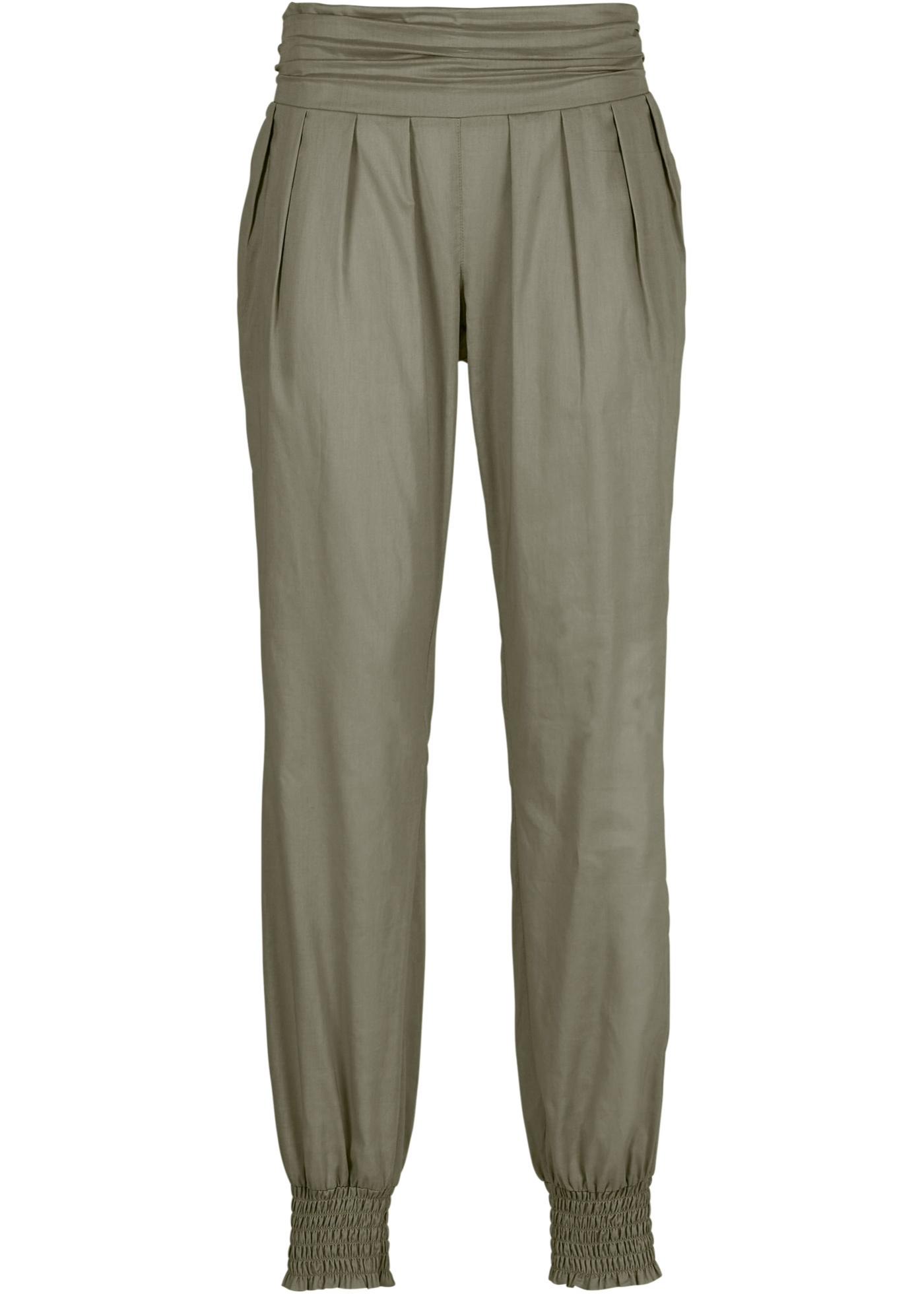 Pantalon style sarouel vert femme - bonprix