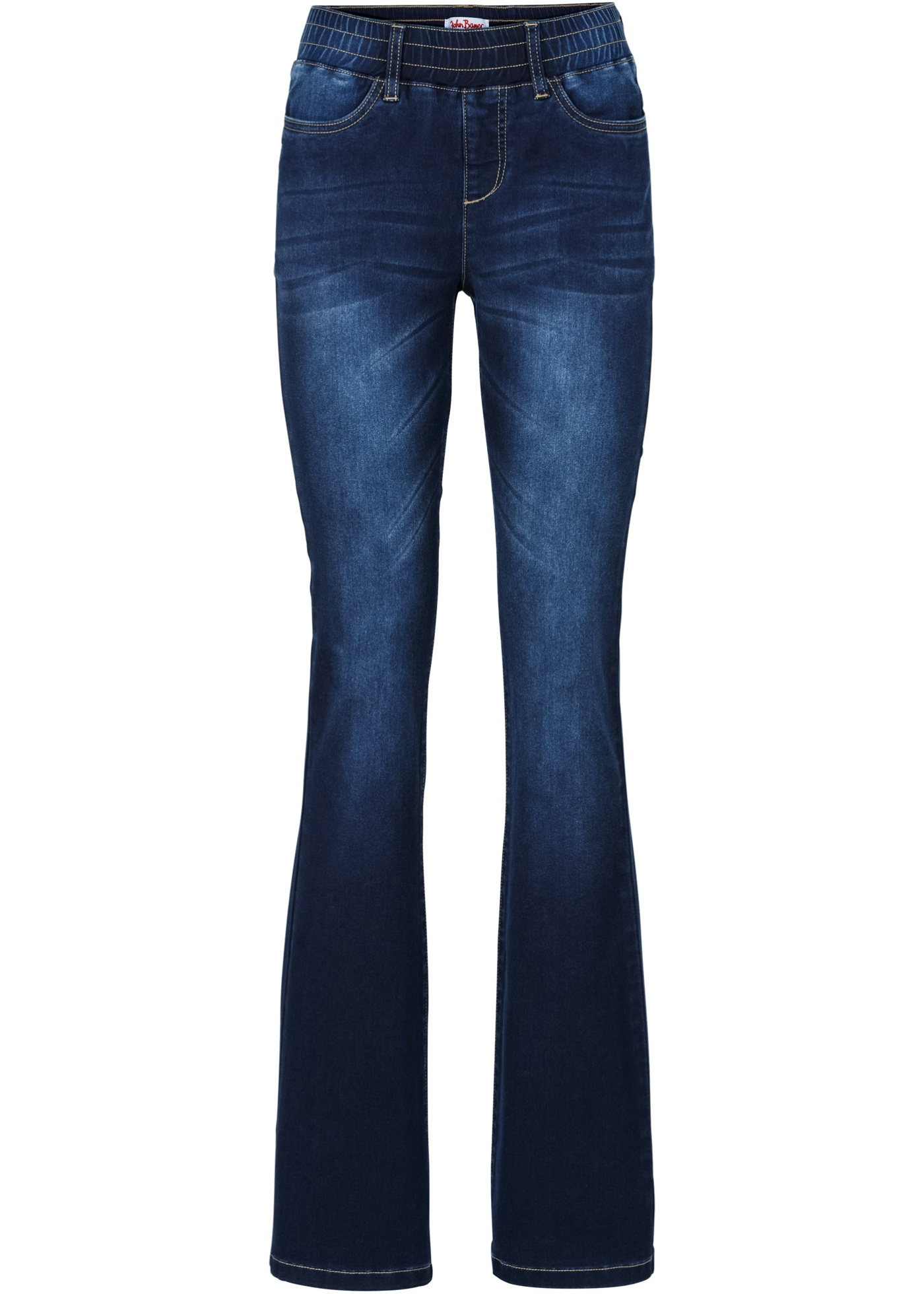 Jean taille extensible power stretch bootcut,...