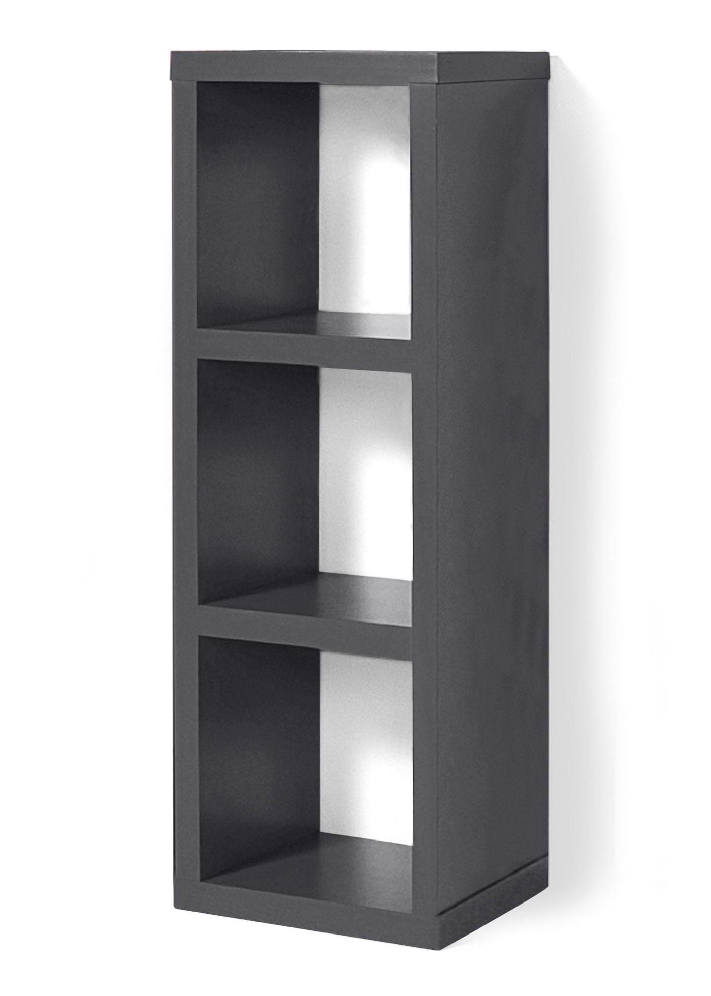 Étagère à 3 compartiments pouvant être utilisée de manière polyvalente : étagère, meuble TV, cloison de séparation etc. Différents décors au choix. Dim. intérieure env. l/P/H 30x30x30 cm. Livraison avec notice de montage.