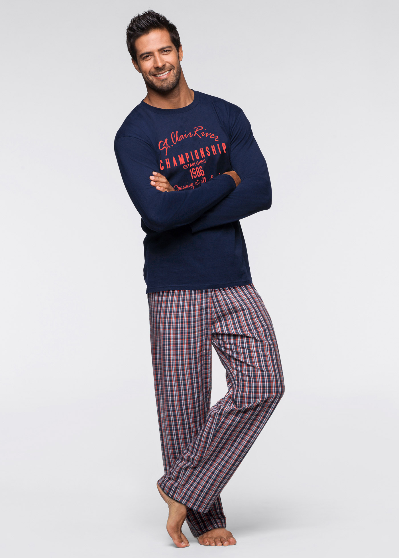 Pyjama avec pantalon tissé