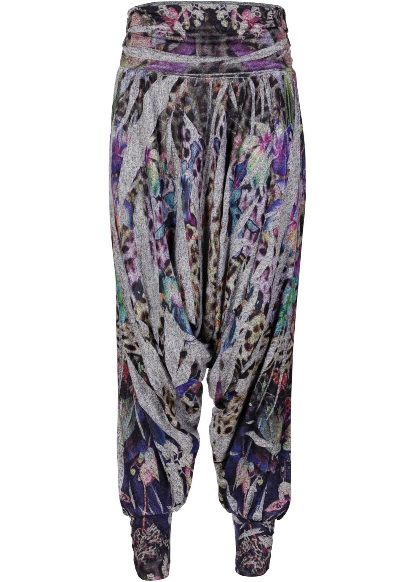 Pantalon sarouel gris femme - bonprix