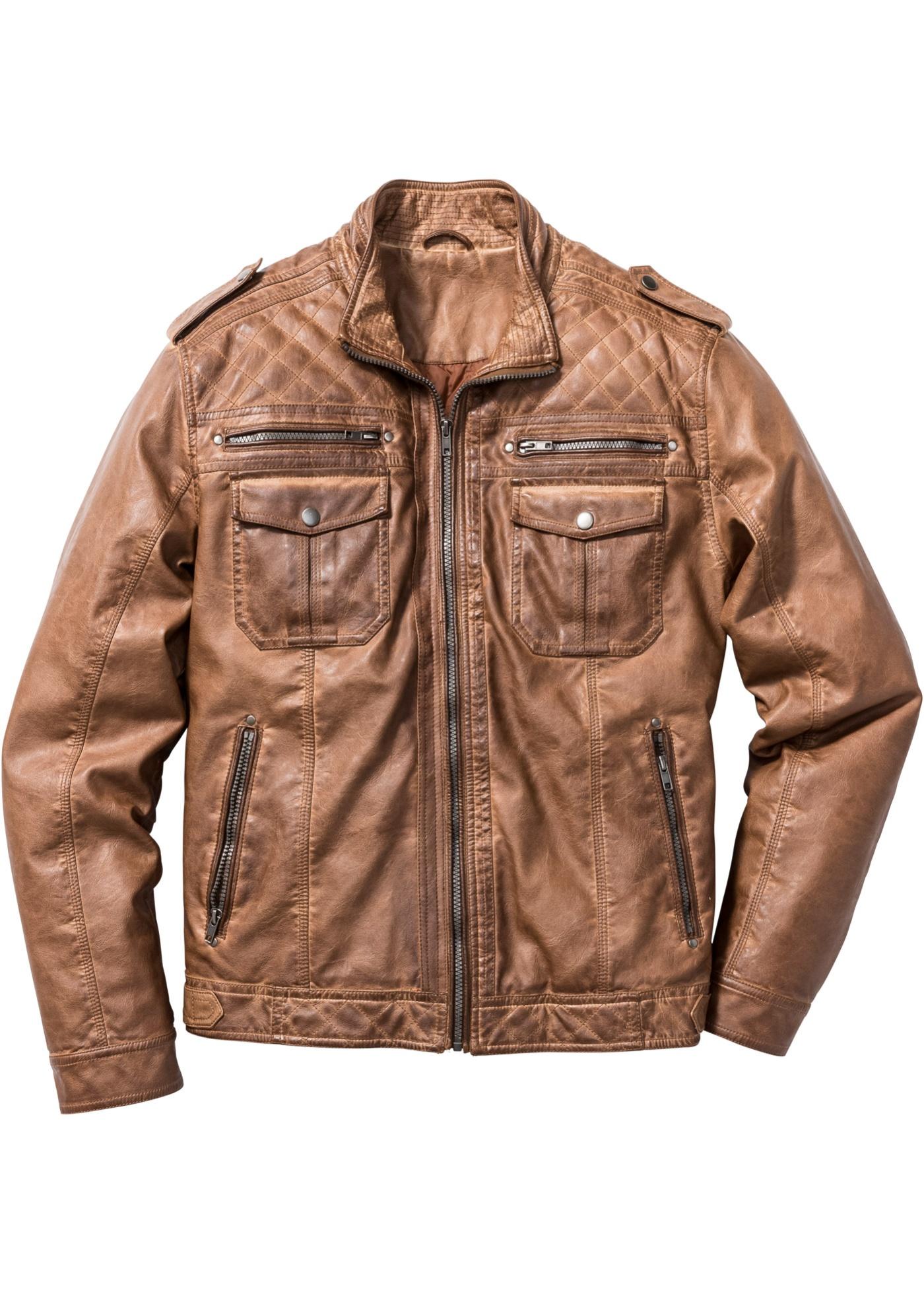 Blouson synthétique imitation cuir regular fit...